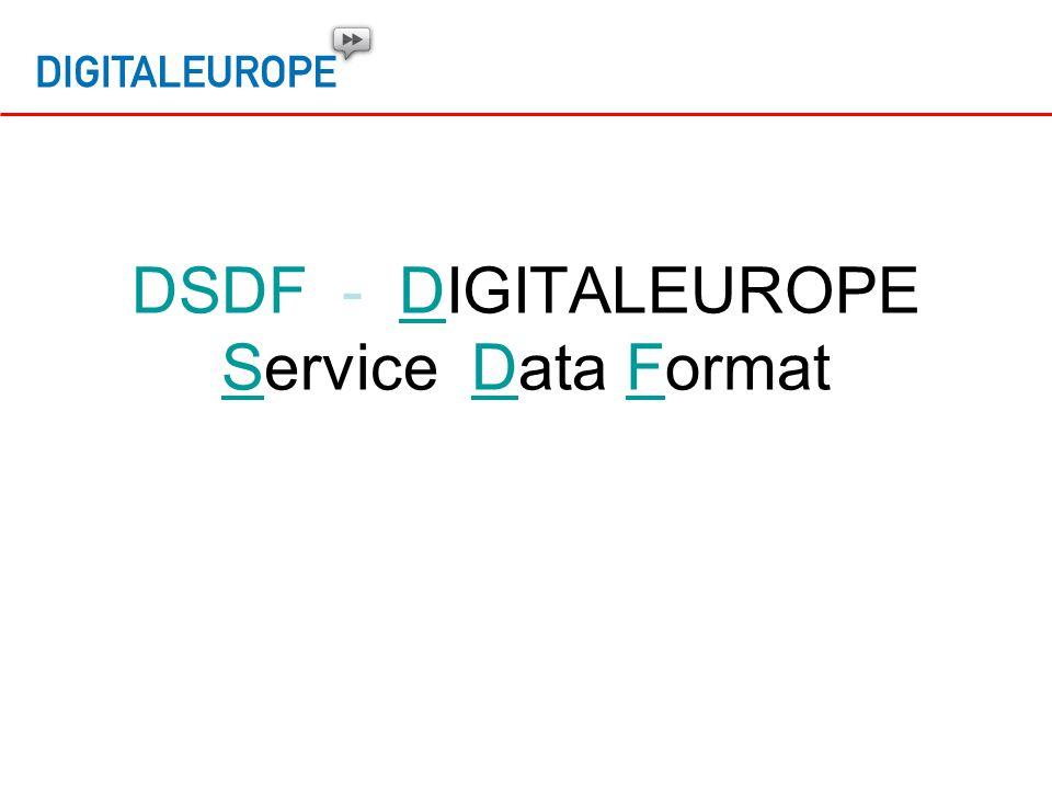 DSDF - DIGITALEUROPE Service Data Format