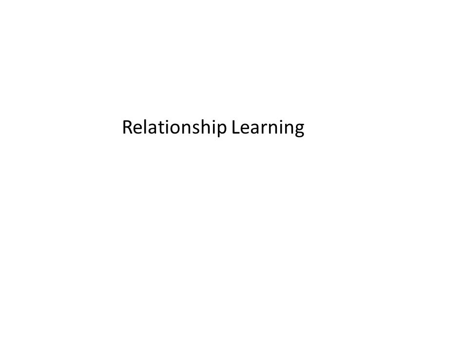 Relationship Learning