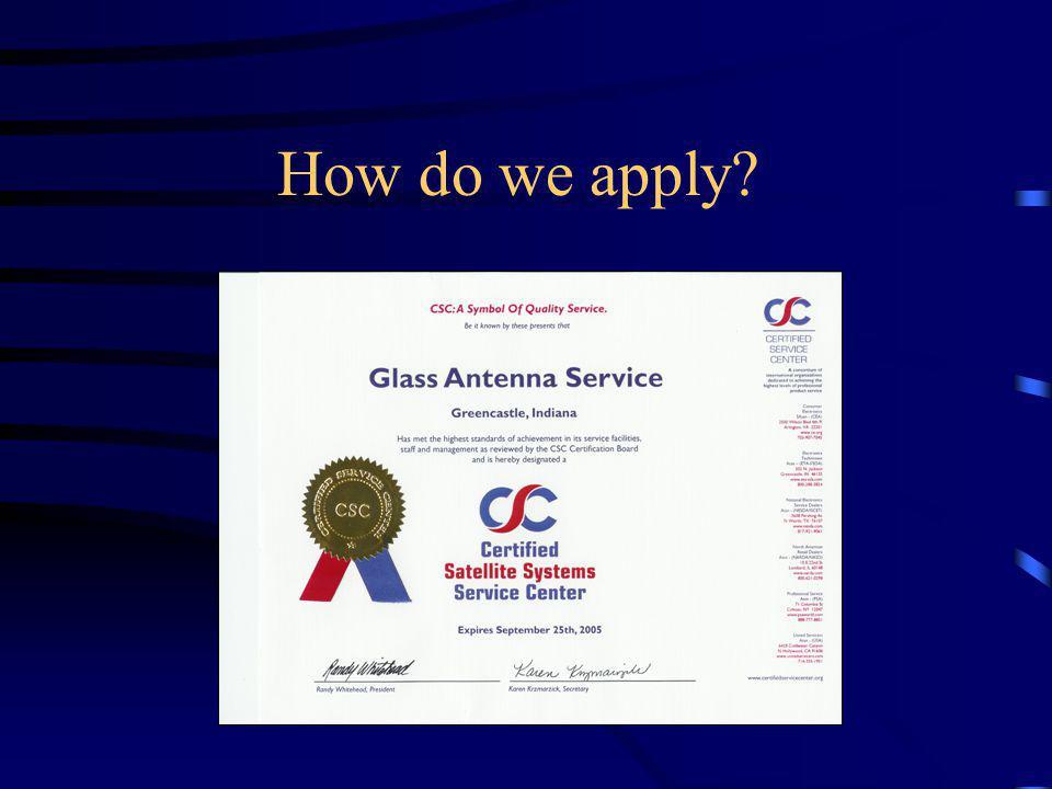 How do we apply