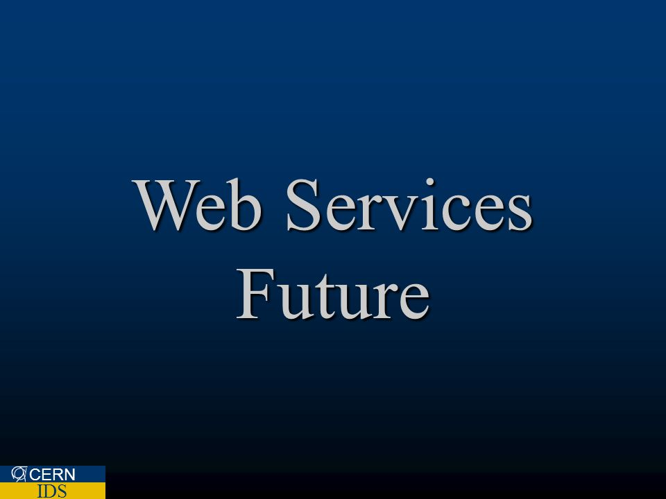 Web Services Future CERN IDS