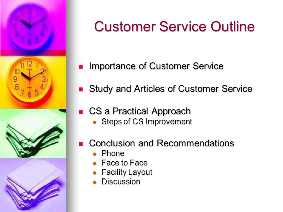 Importance of Customer Service A customer must perceive that they are the most important person on our premises.