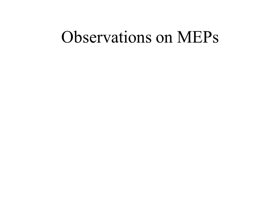 Observations on MEPs
