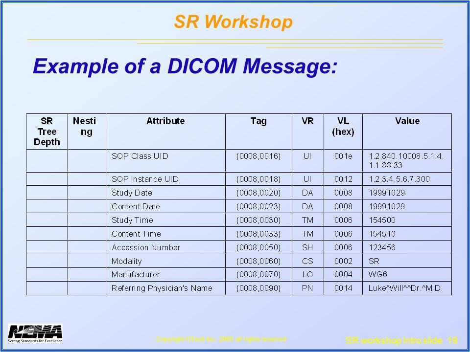 SR workshop Intro slide 19 SR Workshop Copyright OTech Inc.