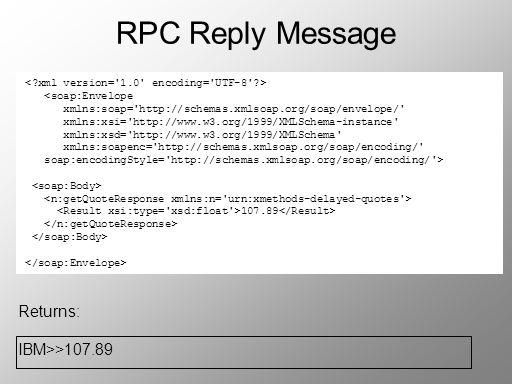 RPC Reply Message <soap:Envelope xmlns:soap='http://schemas.xmlsoap.org/soap/envelope/' xmlns:xsi='http://www.w3.org/1999/XMLSchema-instance' xmlns:xs
