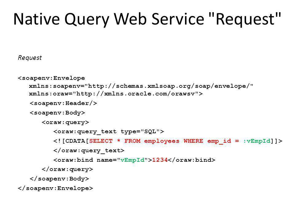 Native Query Web Service Request Request 1234