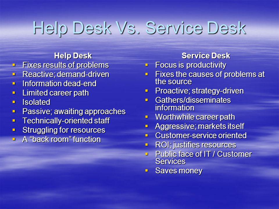 Help Desk Vs.