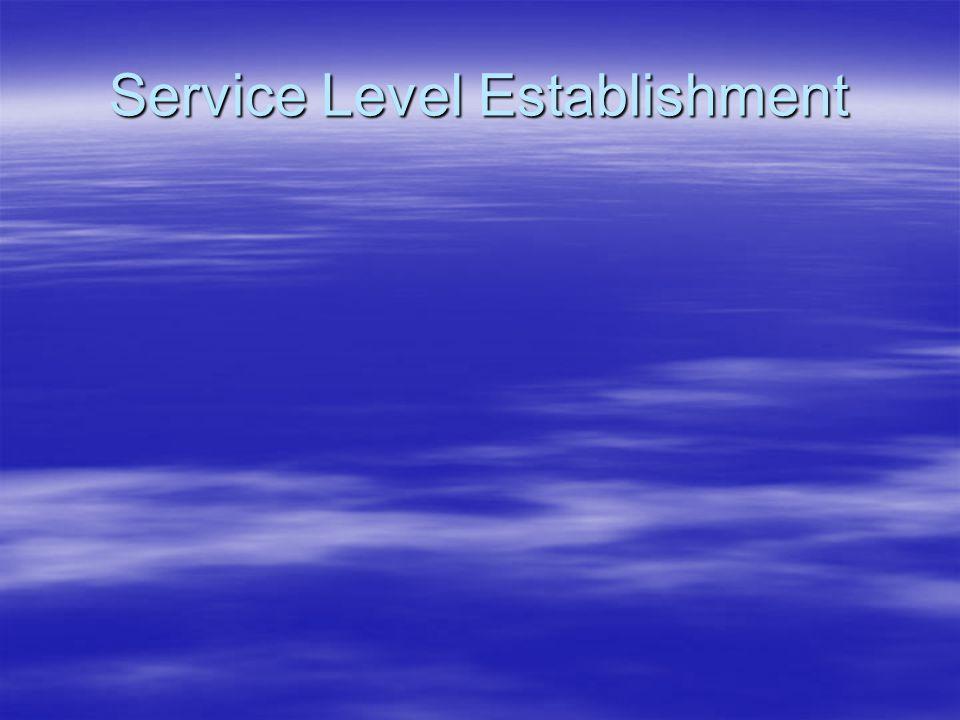 Service Level Establishment