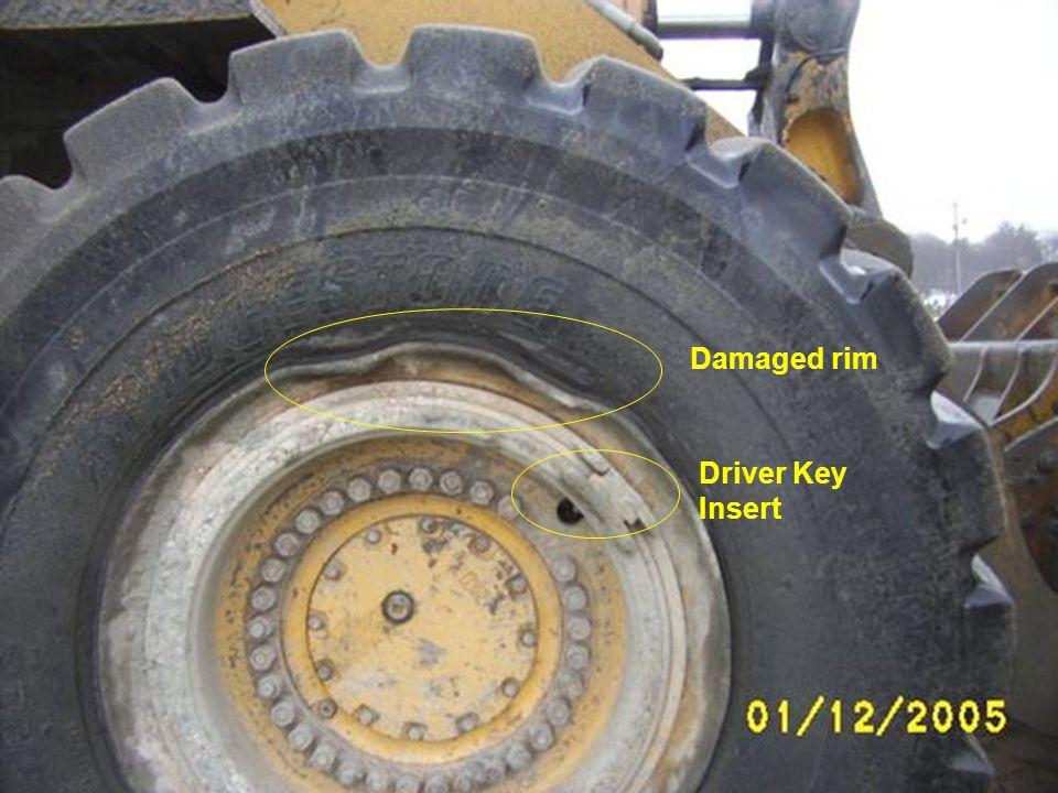 Driver Key Insert Damaged rim