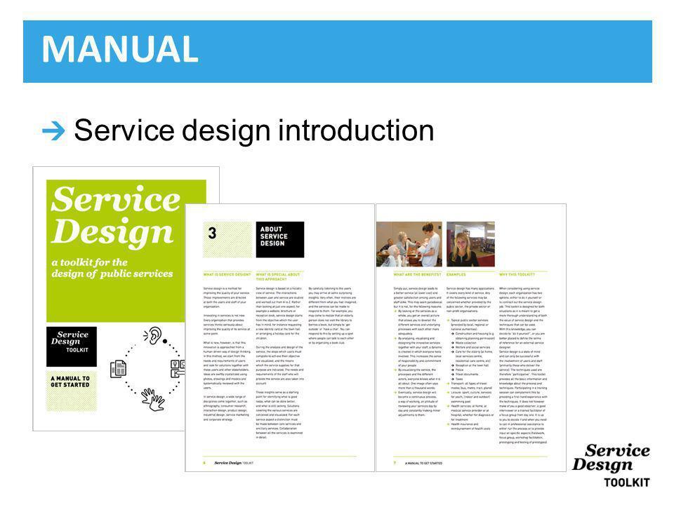 Service design introduction MANUAL