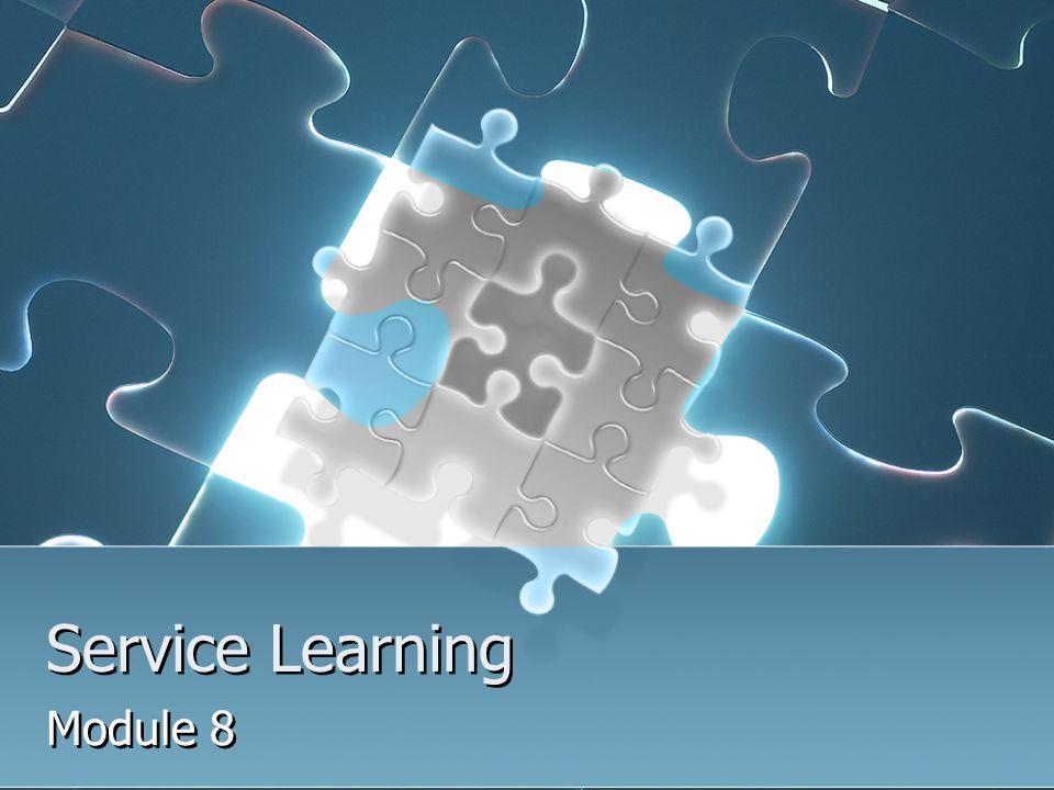 Service Learning Module 8