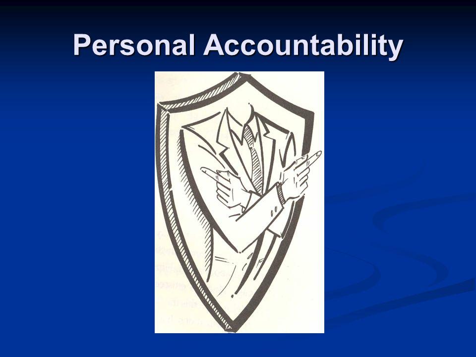 Personal Accountability