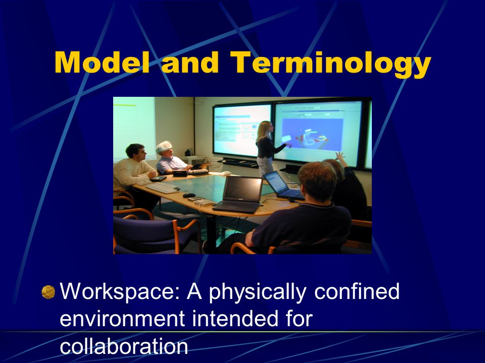 Model and Terminology Workspace: A physically confined environment intended for collaboration