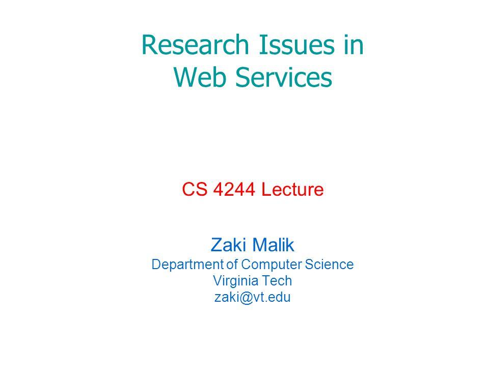 Challenges Web Services Trust