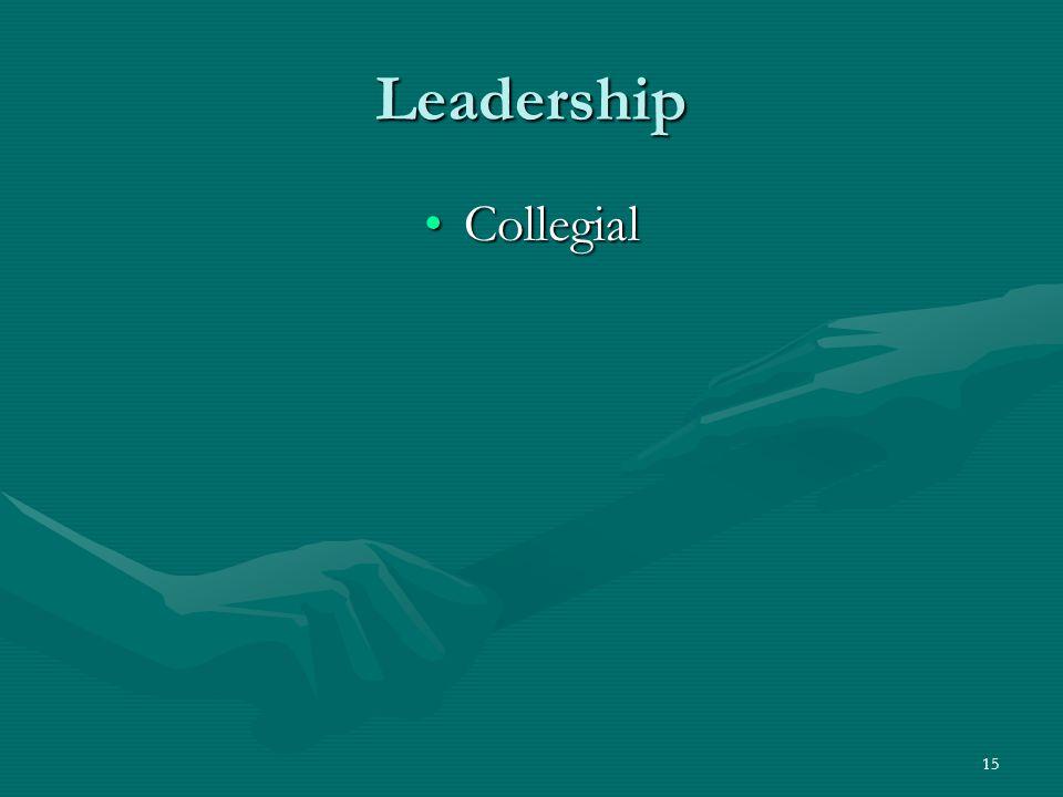 15 Leadership CollegialCollegial