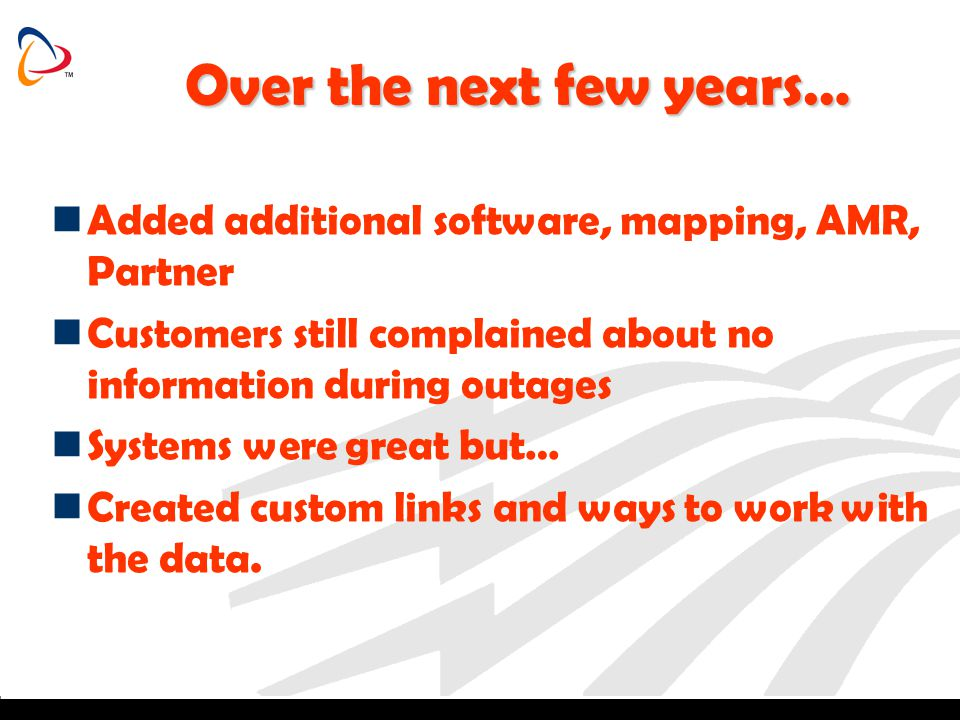 Continued… Introduced to Dispatch in 2004 Installed in 2005 Saw an immediate impact on Customer Service