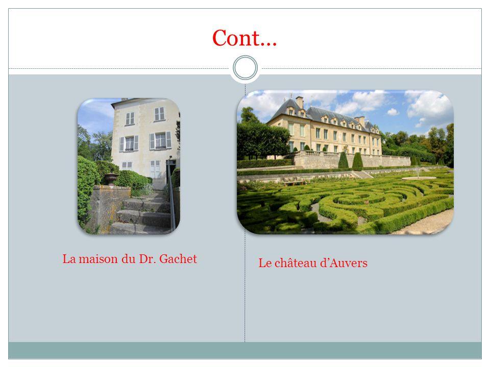 Cont… La maison du Dr. Gachet Le château dAuvers