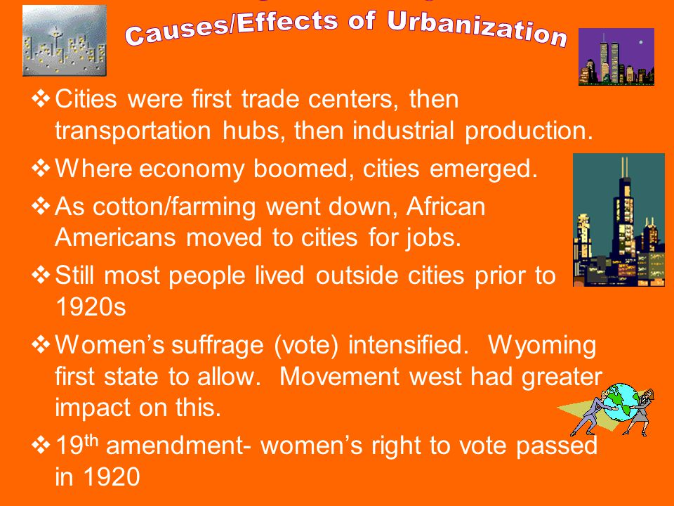 Cities were first trade centers, then transportation hubs, then industrial production.