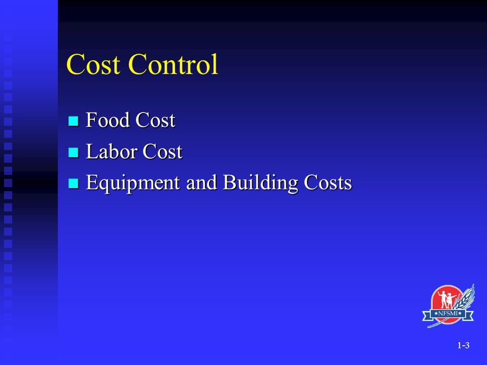 1-14 Advantages of Centralized Foodservice Systems Lower food and supply costs Lower food and supply costs Purchasing power Purchasing power Effective utilization of USDA commodities Effective utilization of USDA commodities Ingredient control Ingredient control Inventory control Inventory control