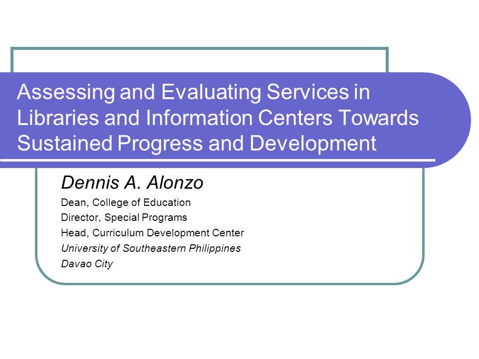 Dennis A.Alonzo 42 Framework for Planning an Evaluation 9.