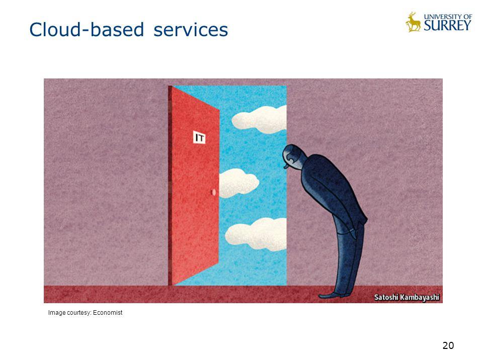Cloud-based services 20 Image courtesy: Economist