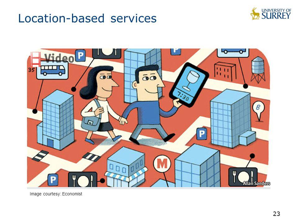 Location-based services 23 Image courtesy: Economist