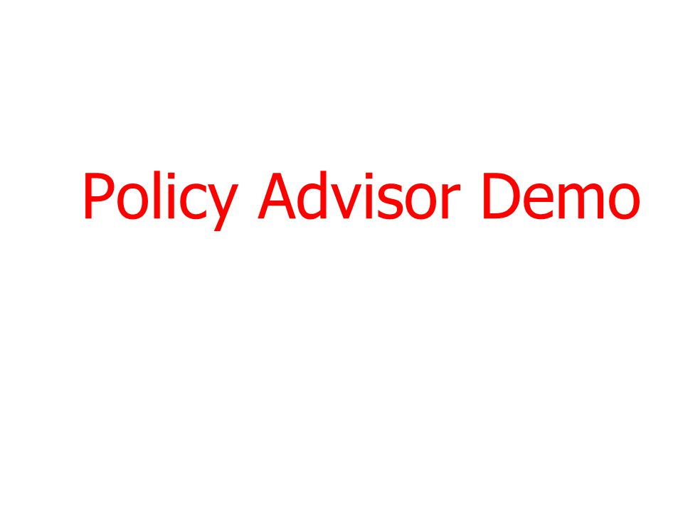 Policy Advisor Demo