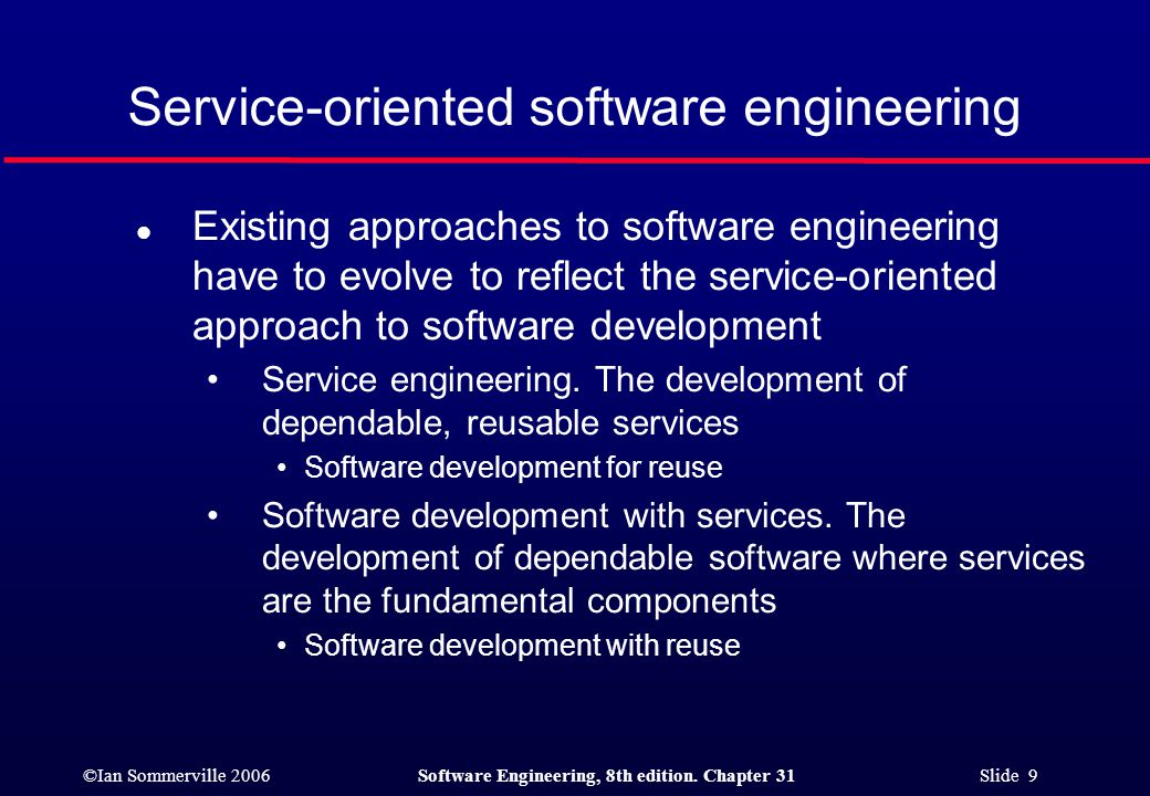 ©Ian Sommerville 2006Software Engineering, 8th edition.