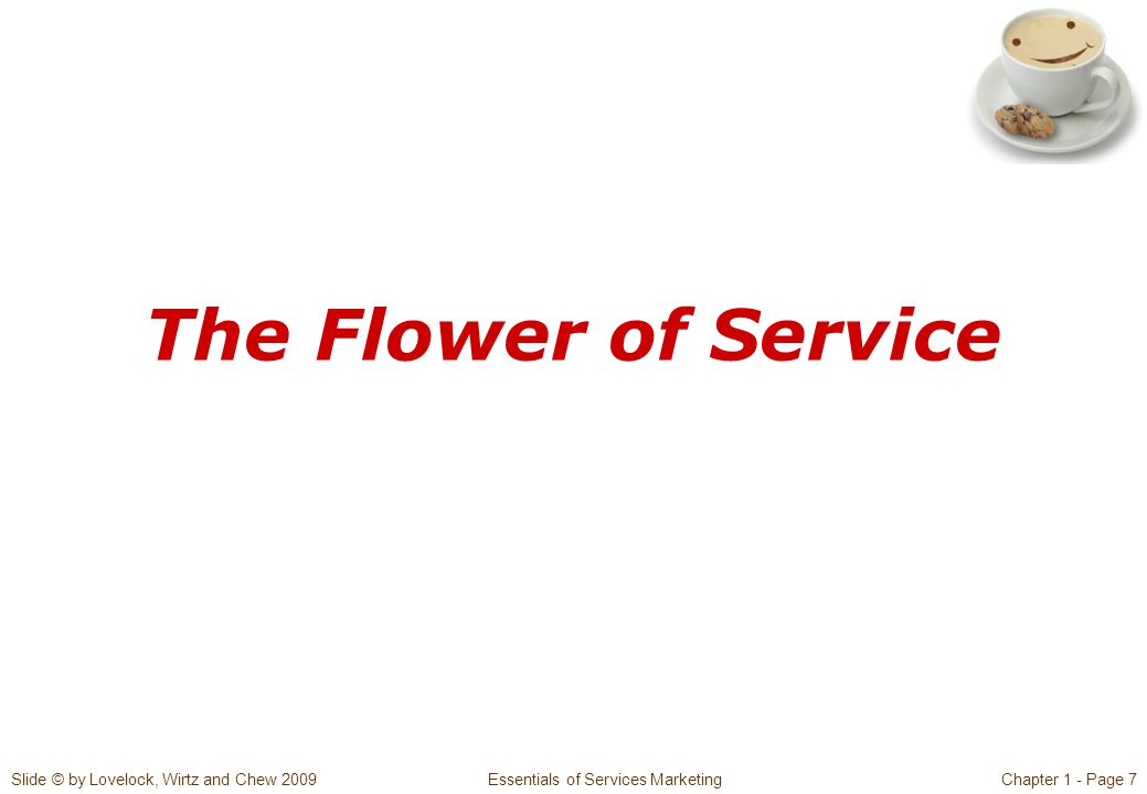Slide © by Lovelock, Wirtz and Chew 2009 Essentials of Services MarketingChapter 1 - Page 7 The Flower of Service
