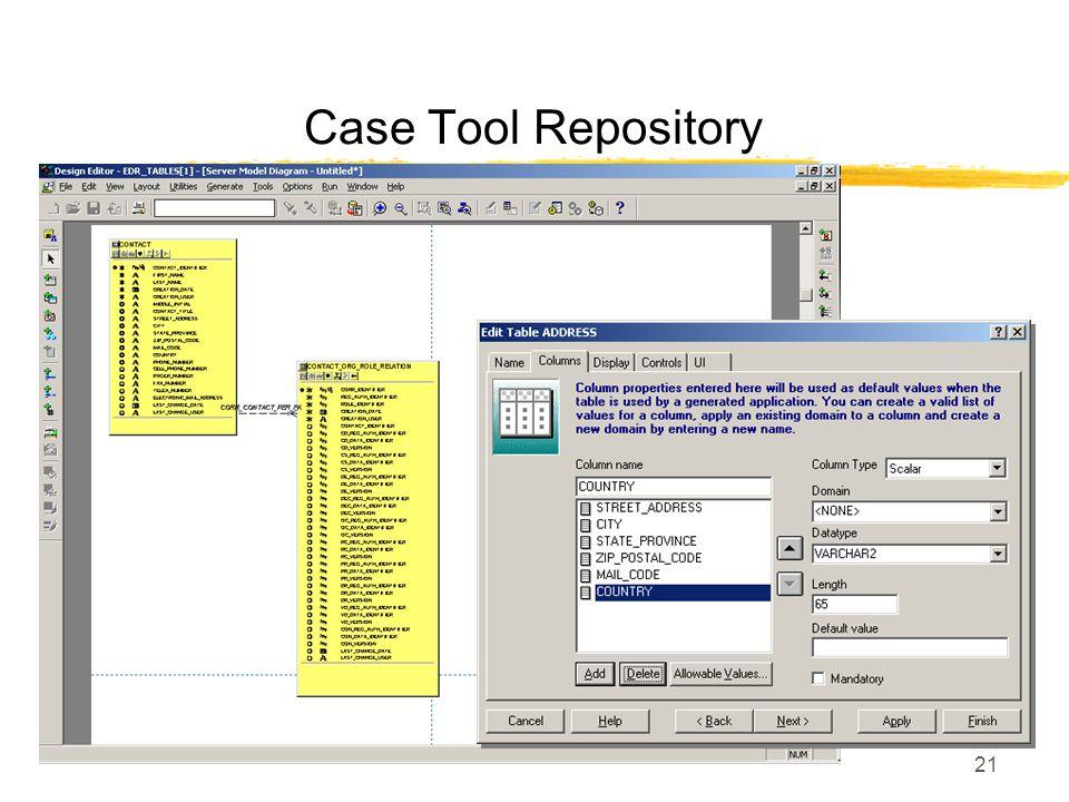 21 Case Tool Repository