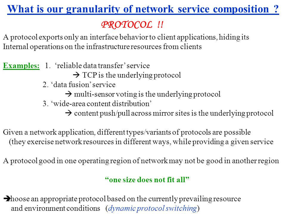 What is our granularity of network service composition .
