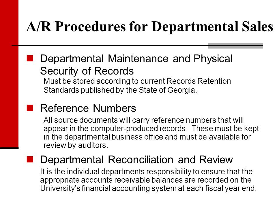 Departmental Maintenance and Physical Security of Records Must be stored according to current Records Retention Standards published by the State of Ge