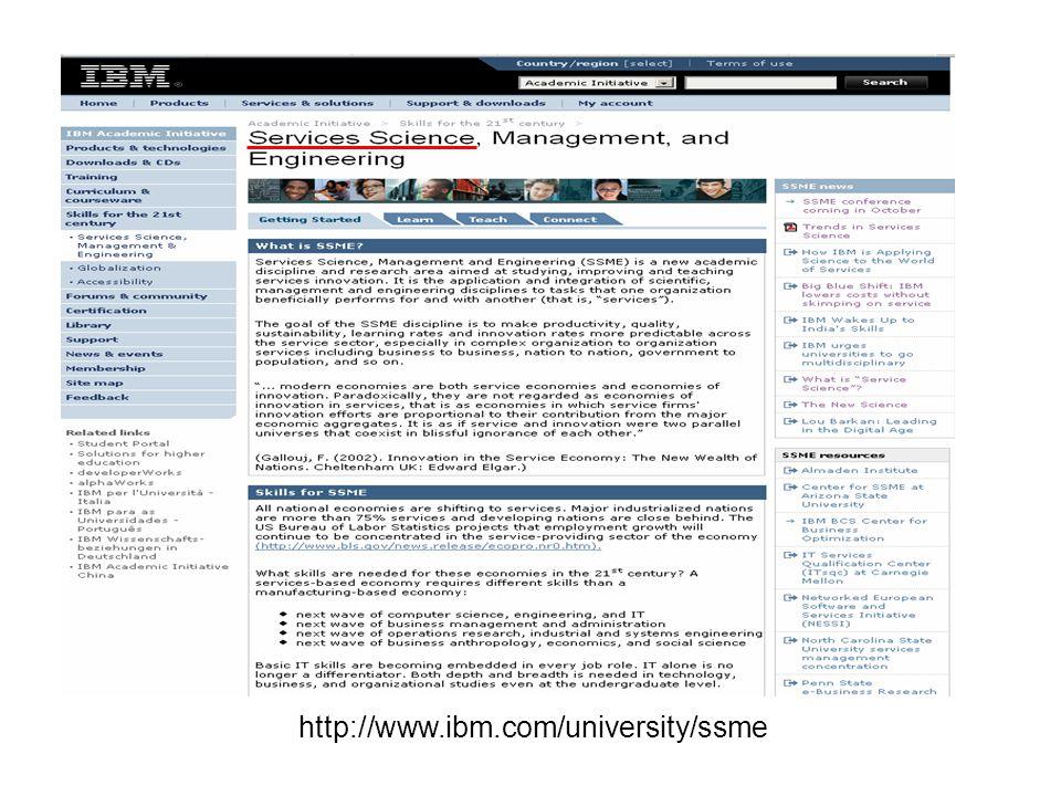 http://www.ibm.com/university/ssme