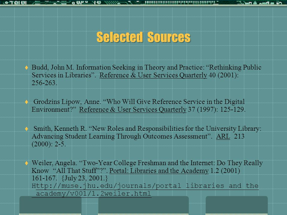Selected Sources Budd, John M.