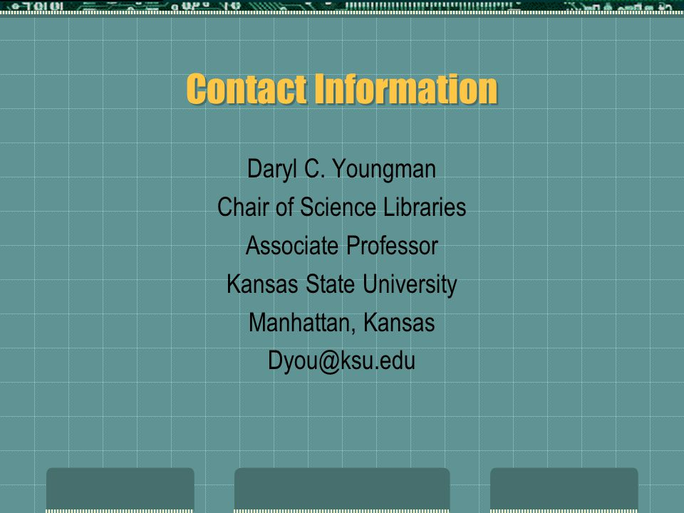 Contact Information Daryl C.