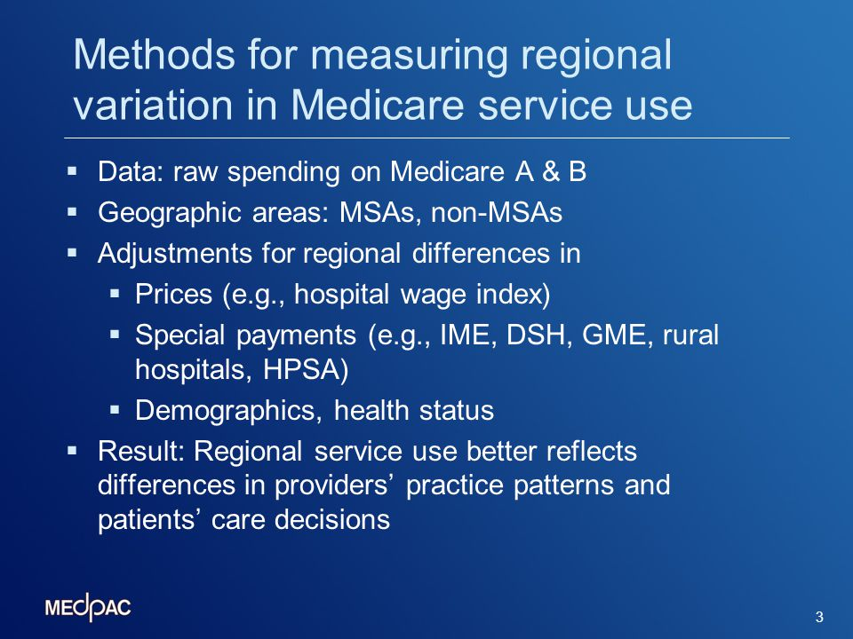 Medicare spending levels vary widely by geographic area 4 Percent of national average Percent of beneficiaries living in MSA with specified level of spending Source: BASF (2006-2008) Note: Service use is estimated as spending adjusted for input prices, health status and special hospital payments