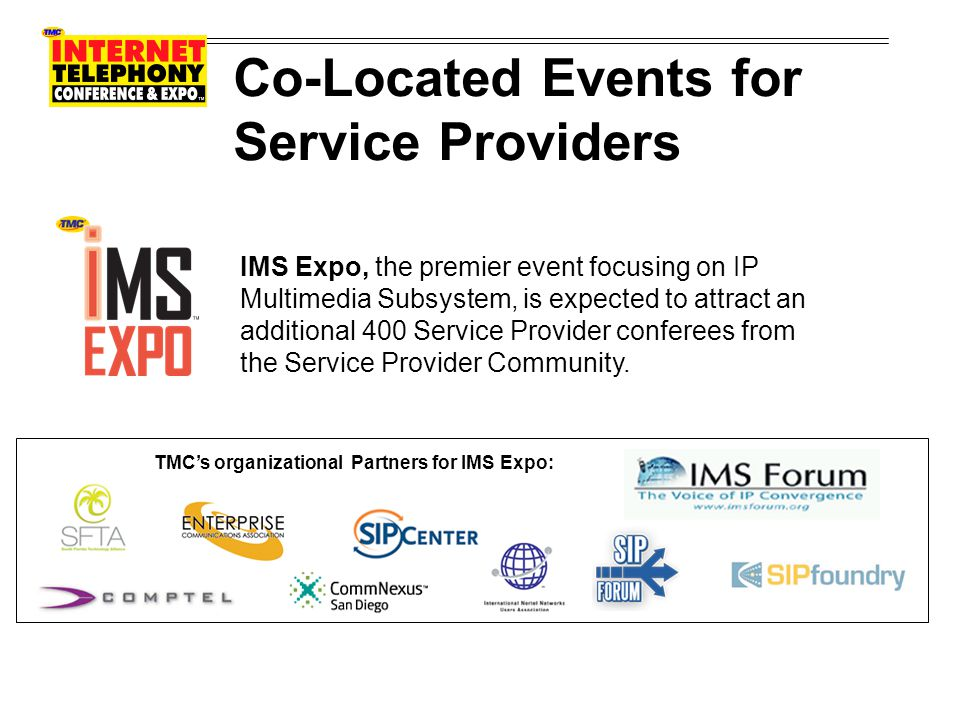 Co-Located Events for Service Providers IPTV Evolution Summit will delve deeply into the future of IP Television.