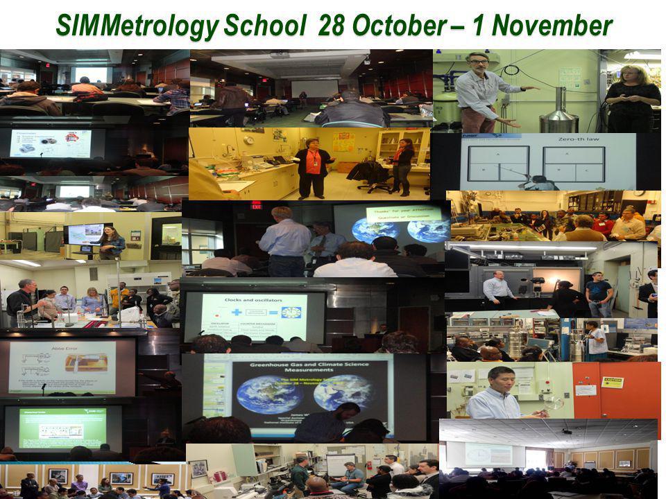 SIM Metrology School 28 October – 1 November