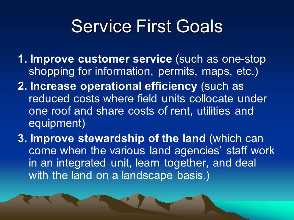 Service First Goals 1.