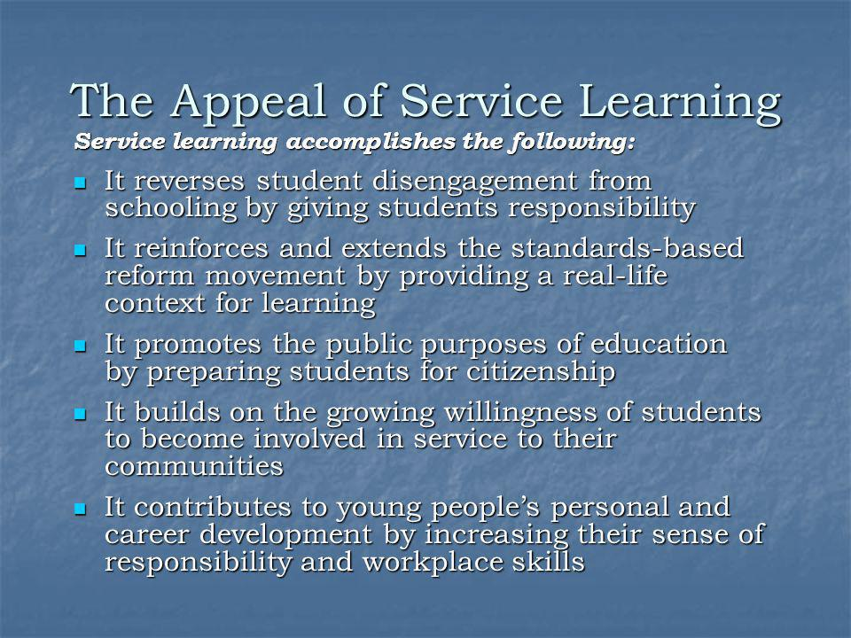 What does service-learning look like?