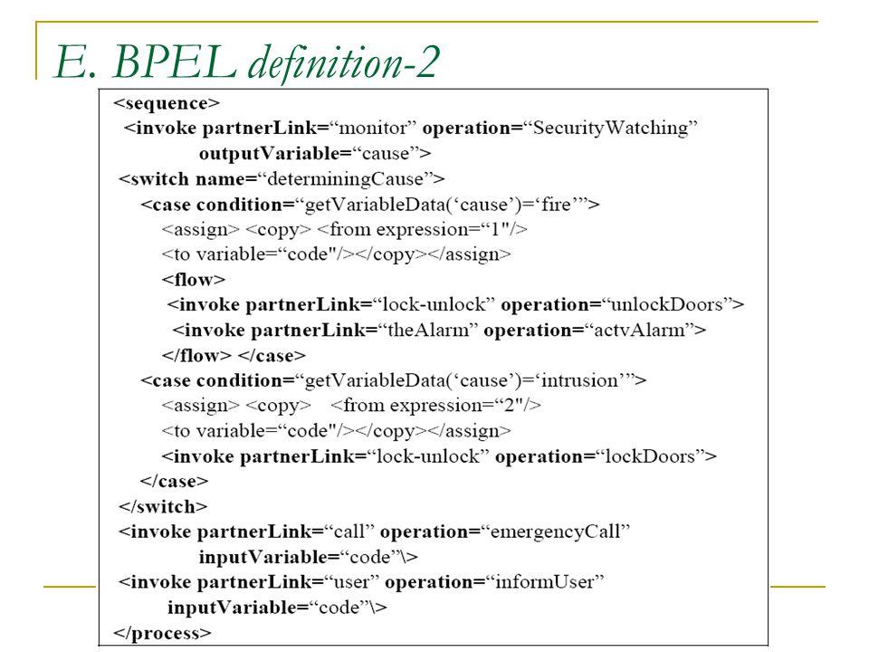 E. BPEL definition-2