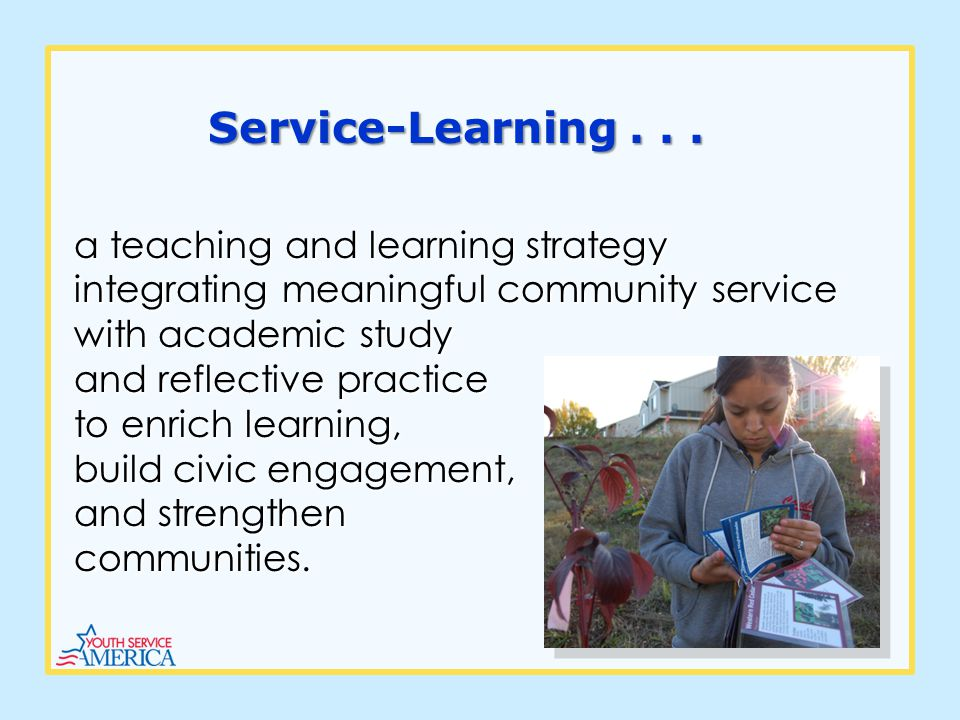 Service-Learning...