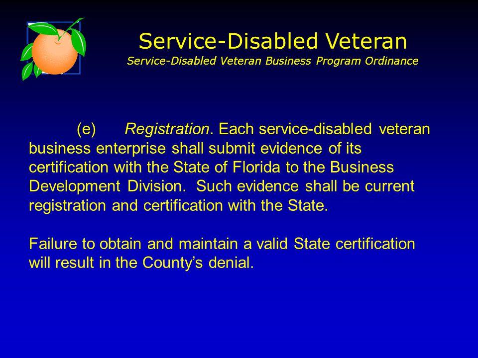 (e)Registration.