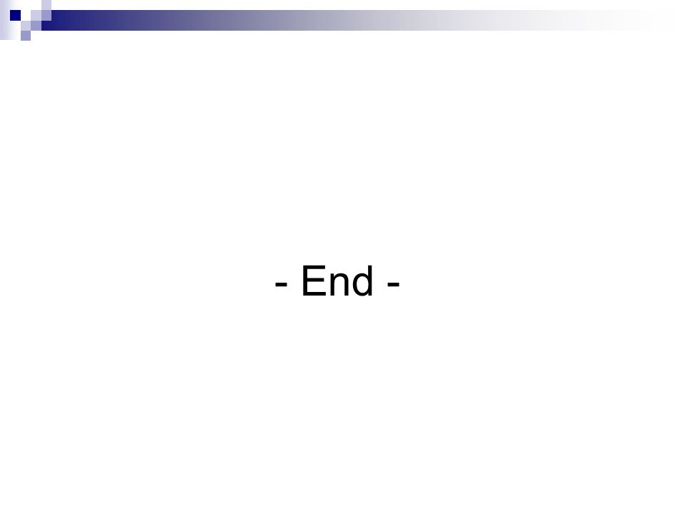 - End -
