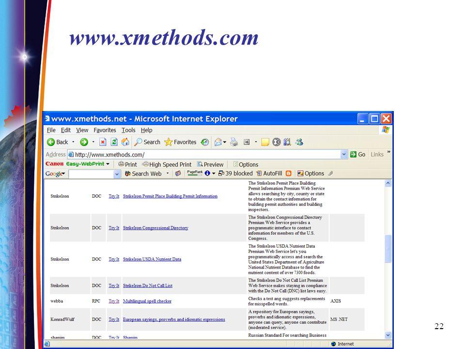 22 www.xmethods.com