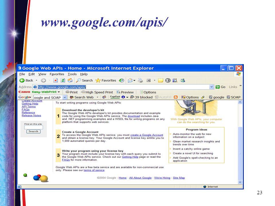 23 www.google.com/apis/