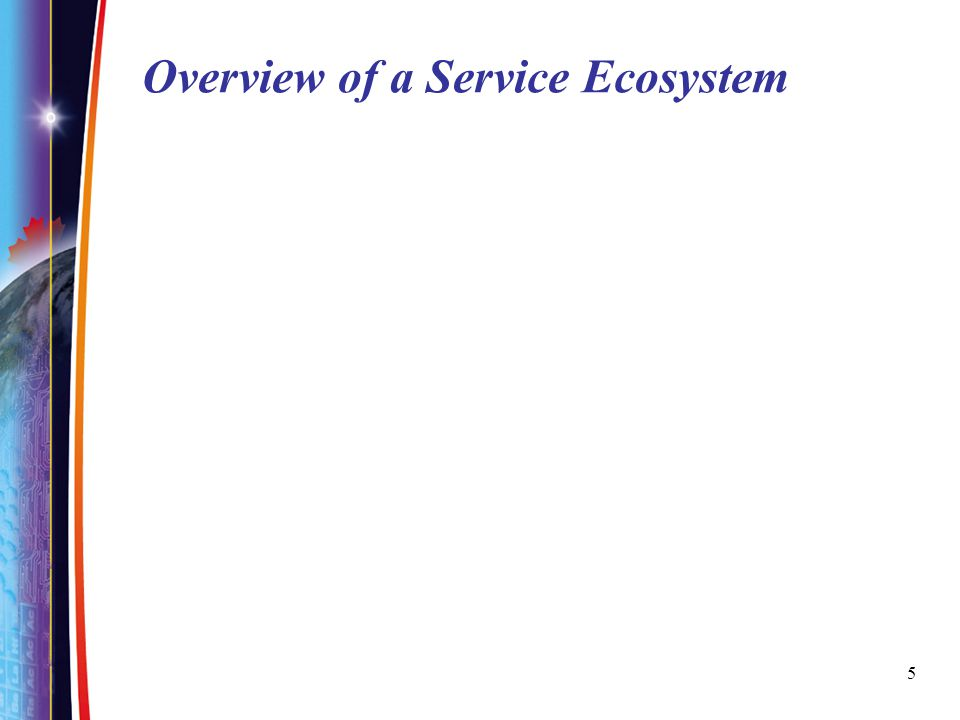5 Overview of a Service Ecosystem