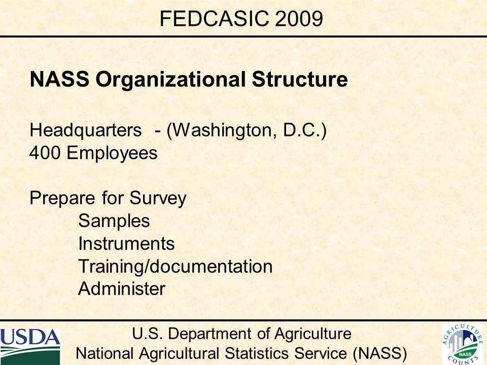 Future Direction of Census PRISM Processing System Design considering survey needs Tuning applications to meet survey needs Team of end users to recommend specs First census follow-on survey being developed FEDCASIC 2009 U.S.