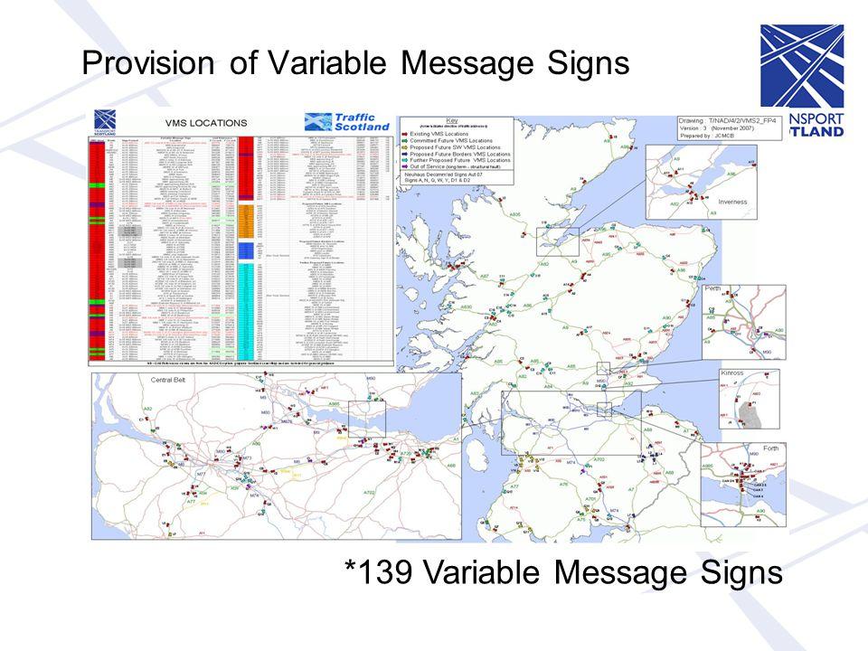 Traffic Scotland Information Service Usage Page Impressions 2006 : 31 m 2007 : 35 m 2008 : 58 m (40 m predicted) 2009 : 137m (52 m December 2009) 2010 : 328 m (113 m December 2010) - Q1: 115 m - Q4: 171 m - 06 December – 21.6 m