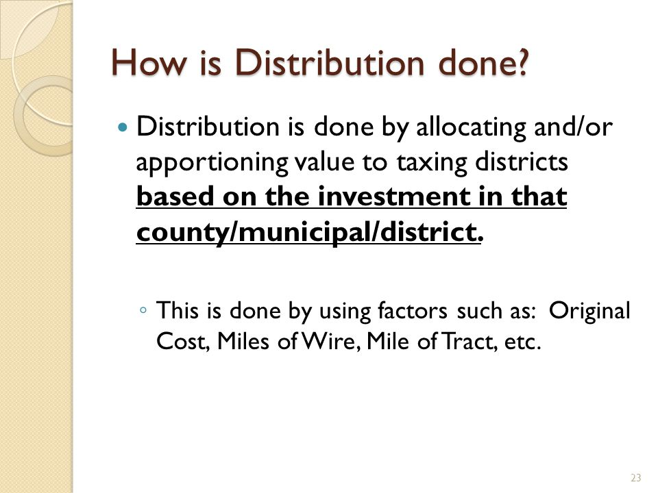 How is Distribution done.