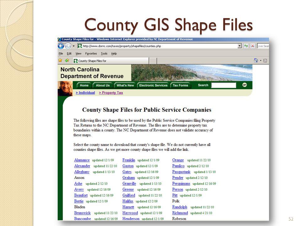 County GIS Shape Files 52